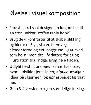 Øvelse i visuel komposition