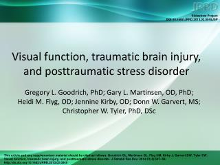 Visual function, traumatic brain injury, and posttraumatic stress disorder