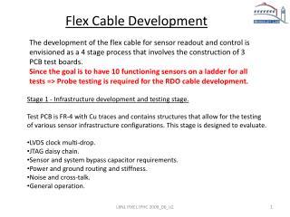 Flex Cable Development