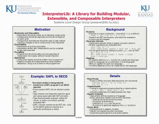InterpreterLib: A Library for Building Modular,