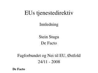 EUs tjenestedirektiv