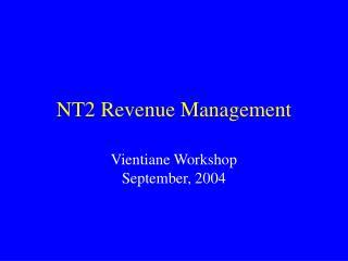 NT2 Revenue Management