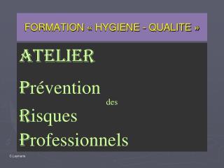 FORMATION   HYGIENE - QUALITE