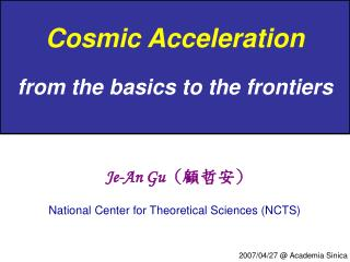 Cosmic Acceleration from the basics to the frontiers