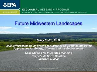 EPA's Ecological Research Program and Ecosystem Services