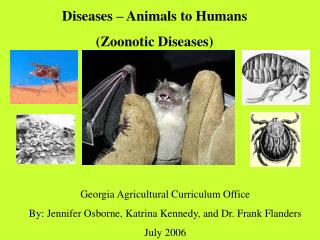 Diseases – Animals to Humans (Zoonotic Diseases)