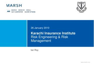 Karachi Insurance Institute  Risk Engineering  Risk Management
