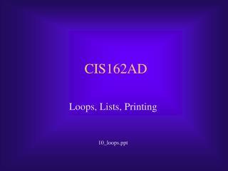 CIS162AD