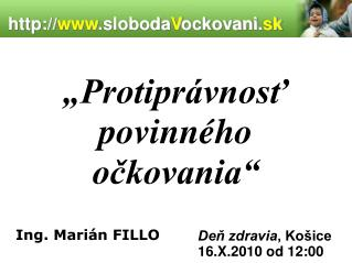www .sloboda V ockovani. sk