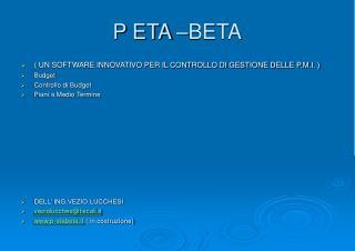 P ETA –BETA