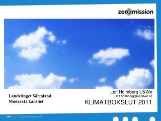 Klimatbokslut 2011