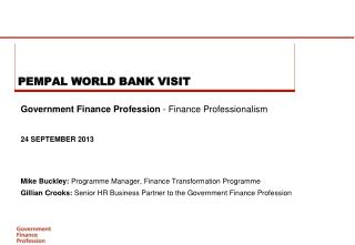 PEMPAL WORLD BANK VISIT