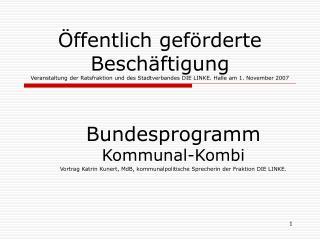 Bundesprogramm Kommunal-Kombi