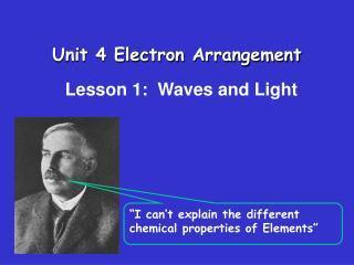 Unit 4 Electron Arrangement