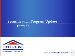 Securitization Program Update