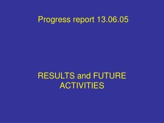Progress report 13.06.05