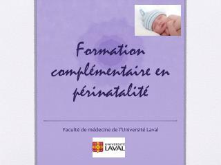 Formation complémentaire en périnatalité