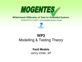 WP3 Modelling & Testing Theory