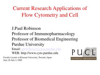Current Research Applications of Flow Cytometry and Cell