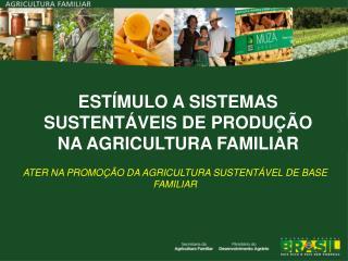 ESTÍMULO A SISTEMAS SUSTENTÁVEIS DE PRODUÇÃO NA AGRICULTURA FAMILIAR