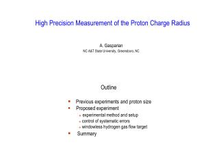 High Precision Measurement of the Proton Charge Radius