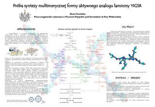 Próba syntezy multimerycznej formy aktywnego analogu lamininy YIGSR