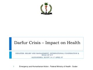 Darfur Crisis – Impact on Health