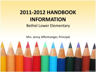 2011-2012 HANDBOOK INFORMATION