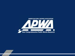 APWA CORE COMPETENCIES