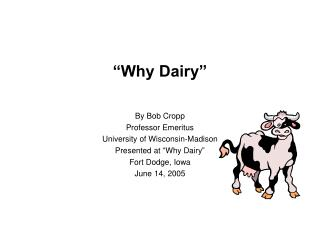 �Why Dairy�