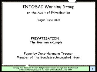 INTOSAI Working Group