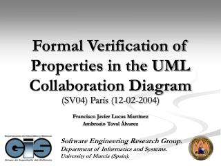 Formal Verification of Properties in the UML Collaboration Diagram