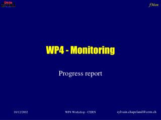 WP4 - Monitoring