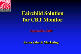 September,  2000 Korea Sales & Marketing