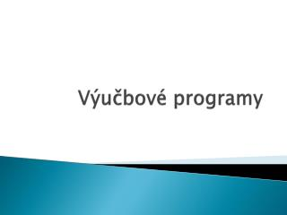 V�u?bov� programy