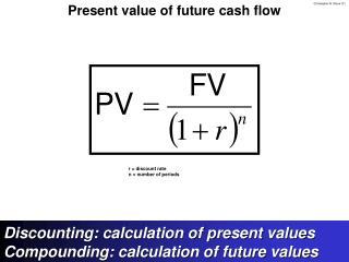 Present value of future cash flow