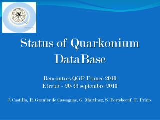Status  of  Quarkonium DataBase