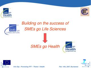 Building on the success of  SMEs go Life Sciences SMEs go Health