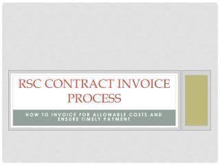 RSC contract Invoice Process
