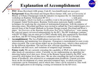 Explanation of Accomplishment