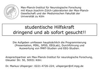 Max-Planck-Institut für Neurologische Forschung