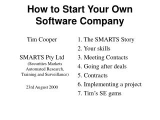 How to Start Your Own Software Company