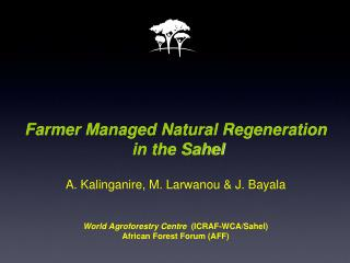 Challenges for the Sahel