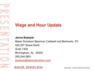 Wage and Hour Update