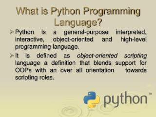 What is Python Programming Language?
