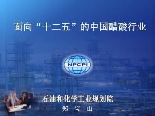 """面向""""十二五 """" 的中国醋酸行业"""