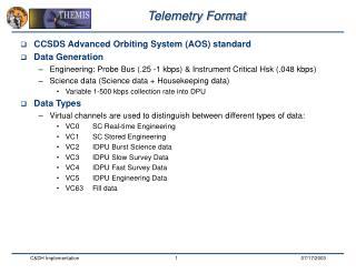 Telemetry Format