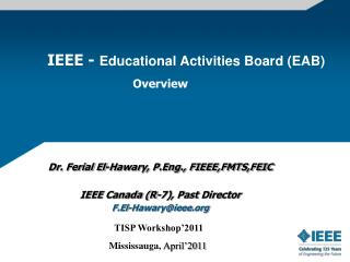 IEEE -  Educational Activities Board (EAB)                                       Overview