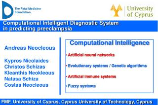 Computational Intelligent Diagnostic System   in predicting preeclampsia