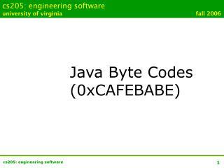 cs205: engineering software university of virginia        fall 2006
